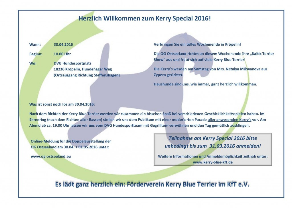 Einladung Kerry Special 2016
